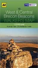 Walker's Map West & Central Brecon Beacons:  Edinburgh & the Pentland Hills