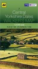 Walker's Map Central Yorkshire Dales:  Edinburgh & the Pentland Hills