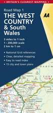 Road Map Britain 01. West Country & South Wales 1 : 200 000