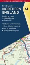 Road Map Britain 07 Northern England 1 : 200 000