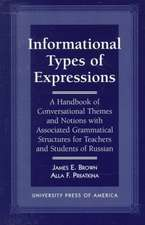 Informational Types of Expressions
