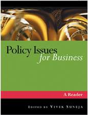 Policy Issues for Business: A Reader