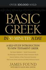 Basic Greek in 30 Minutes a Day:  New Testament Greek Workbook for Laymen
