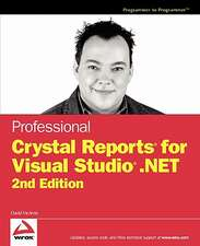 Professional Crystal Reports for Visual Studio .Net:  Designing, Baking, and Decorating the Perfect Wedding Cake