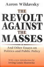 Revolt Against the Masses (Ppr)