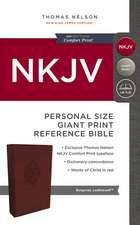 NKJV, Reference Bible, Personal Size Giant Print, Leathersoft, Burgundy, Red Letter Edition, Comfort Print