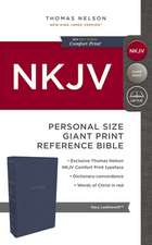 NKJV, Reference Bible, Personal Size Giant Print, Leathersoft, Blue, Red Letter Edition, Comfort Print