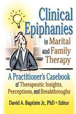 Clinical Epiphanies in Marital and Family Therapy:  A Practitioner's Casebook of Therapeutic Insights, Perceptions, and Breakthroughs