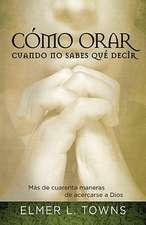 Como Orar Cuando No Sabes Que Decir:  Mas de Cuarenta Maneras de Acercarse A Dios