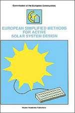 European Simplified Methods for Active Solar System Design