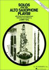 Solos for the Alto Saxophone Player: With Piano Accompaniment