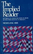 The Implied Reader – Patterns of Communication in Prose Fiction from Bunyan to Beckett