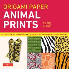 "Origami Paper - Animal Prints - 8 1/4"" - 49 Sheets: Tuttle Origami Paper: High-Quality Large Origami Sheets Printed with 6 Different Patterns: Instructions for 6 Projects Included"