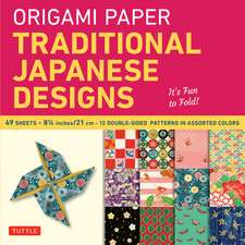 "Origami Paper - Traditional Japanese Designs - Large 8 1/4"": Tuttle Origami Paper: 48 High-Quality Origami Sheets Printed with 12 Different Patterns: Instructions for 6 Projects Included"