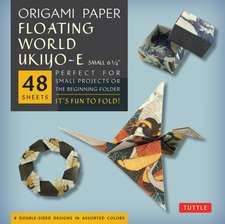 "Origami Paper - Floating World Prints Small 6 3/4""-48 Sheets: Tuttle Origami Paper: High-Quality Origami Sheets Printed with 8 Different Designs: Instructions for 6 Projects Included"
