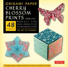 "Origami Paper- Cherry Blossom Prints- Small 6 3/4"" 48 sheets: Tuttle Origami Paper: High-Quality Origami Sheets Printed with 8 Different Patterns: Instructions for 5 Projects Included"