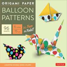 """Origami Paper Pack Balloon Patterns - 6"""" Size - 96 Sheets: Party Designs - Tuttle Origami Paper: High-Quality Origami Sheets Printed with 8 Different Designs: Instructions for 8 Projects Included"""