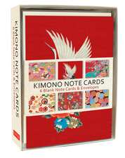 Kimono Note Cards: 6 Blank Note Cards & Envelopes (6 x 4 inch cards in a box)