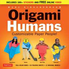 Origami Humans Kit: Customizable Paper People! (Full-color book, 64 sheets of Origami Paper, 100+ Stickers & Video Tutorials)