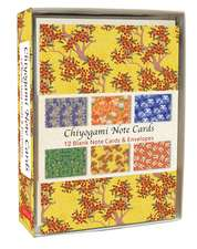 Chiyogami Note Cards: 12 Blank Note Cards & Envelopes (4 x 6 inch cards in a box)
