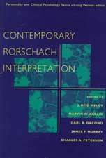Contemporary Rorschach Interpretation