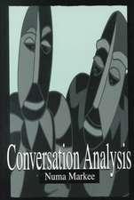 Conversation Analysis CL