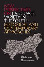 New Perspectives on Language Variety in the South: Historical and Contemporary Approaches