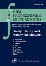 Group Theory and Numerical Analysis