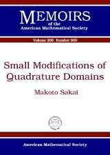 Morgan, J:  Small Modifications of Quadrature Domains