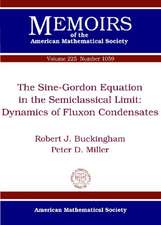 Buckingham, R:  The Sine-Gordon Equation in the Semiclassica