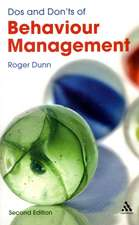 Dos and Don'ts of Behaviour Management 2nd Edition