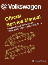 Volkswagen FastBack and Squareback (Type 3) Service Manual:  1968-1973
