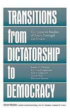 Transitions from Dictatorship to Democracy:  Comparative Studies of Spain, Portugal, and Greece