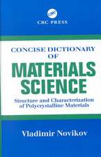 Concise Dictionary of Materials Science:  Structure and Characterization of Polycrystalline Materials