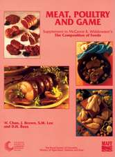 Meat, Poultry and Game:  Supplement to the Composition of Foods