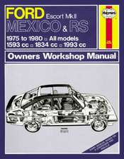 Ford Escort & Mexico RS Mk 2 Owner's Workshop Manual