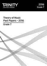 Theory of Music Past Papers 2016 - Grade 7