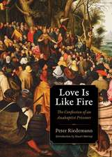 Love Is Like Fire:  The Confession of an Anabaptist Prisoner