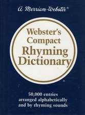 Webster's Compact Rhyming Dictionary