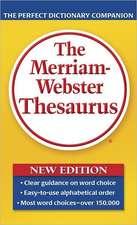 The Merriam-Webster Thesaurus