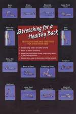 Stretching for a Healthy Back Poster