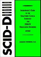 Structured Clinical Interview for Dsm-Iv(r) Dissociative Disorders (Scid-D-R)