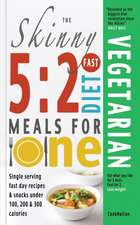 The Skinny 5:  2 Fast Diet Vegetarian Meals for One