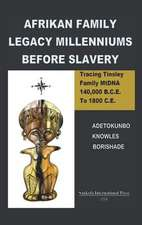 Afrikan Family Legacy Millenniums Before Slavery:  Tracing Tinsley Family Mtdna 140,000 Bce to 1800 Ce