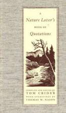 Nature Lover's Book of Quotations