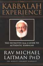The Kabbalah Experience:  The Definitive Q & A Guide to Authentic Kabbalah (OUTLET)