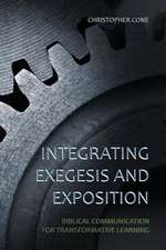 Integrating Exegesis and Exposition
