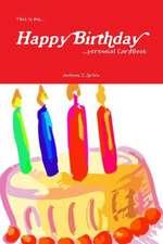 This Is My... Happy Birthday ...Perennial Cardbook