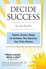 Decide Success:  Twelve Action Steps to Achieve the Success You Truly Desire