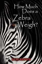 How Much Does a Zebra Weigh?